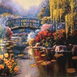 Giverny Pond Carré big 168 x 168 cm