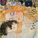 Gustav Klimt - Mother and Child medium 97 x 97  (do rámu)