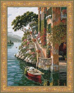 Lake Como Villa small 91 x 121 (do rámu)