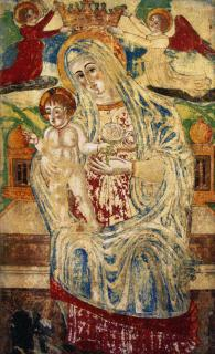 Madona with Child antique 118 x 196  (do rámu)