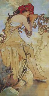 Mucha Summer 64 x 130 (do rámu)