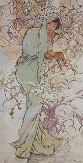 Mucha Winter 64 x 130 (do rámu)