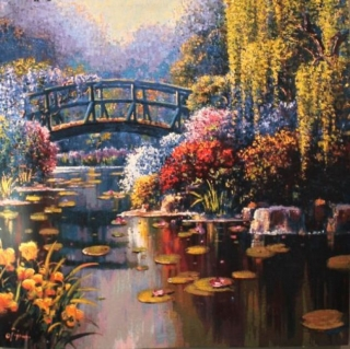 Giverny Pond Carré small 98 x 98cm (do rámu)