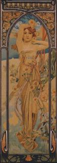 Mucha - Jour medium 55 x 155 (do rámu)