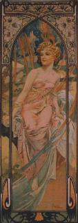Mucha - Matin medium 55 x 155 (do rámu)